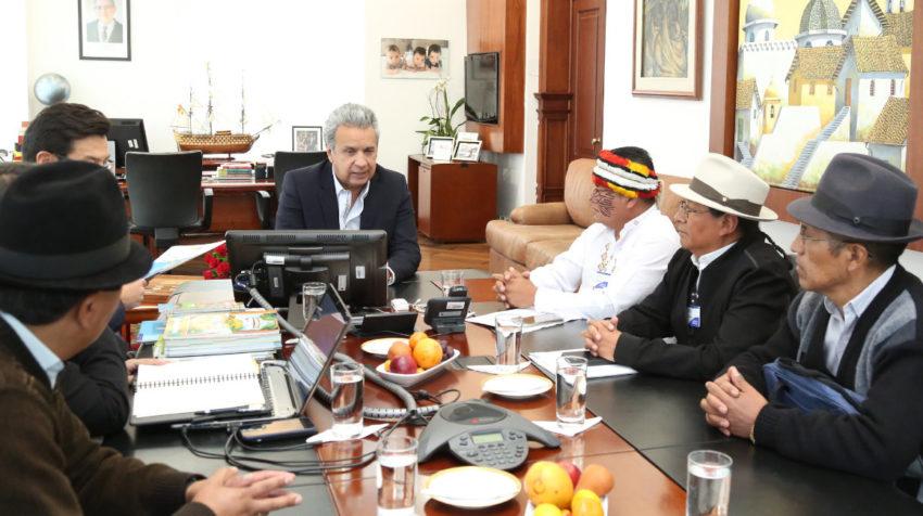 El 27 de junio de 2018, representantes de la Conaie y del gobierno mantuvieron una reunión en Carondelet.