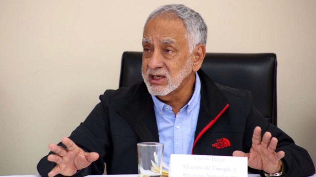 Carlos Pérez presenta renuncia al Ministerio de Energía