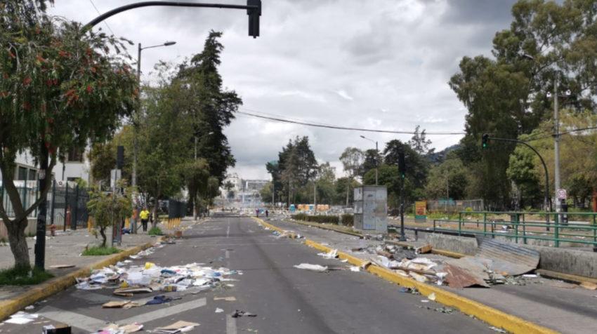 Vista de las avenidas 6 de Diciembre y Patria