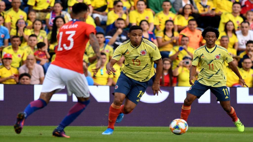Chile y Colombia empataron sin goles en España