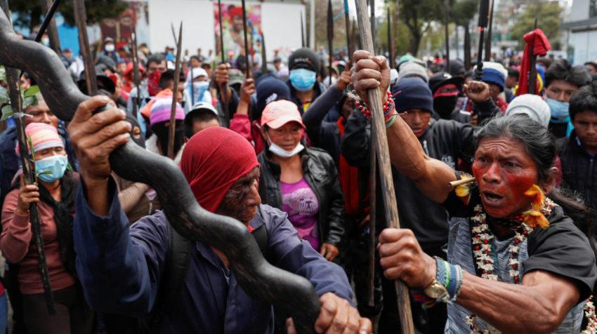 Foto Archivo: Indígenas de las comunidades amazónicas llegaron el viernes 11 de octubre de 2019 a Quito.
