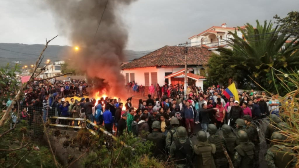 Siete detenidos por desmanes en las inmediaciones de fuerte militar, en el sur de Quito
