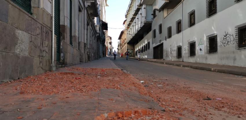 Así se ven las calles del Centro Histórico el 9 de octubre.