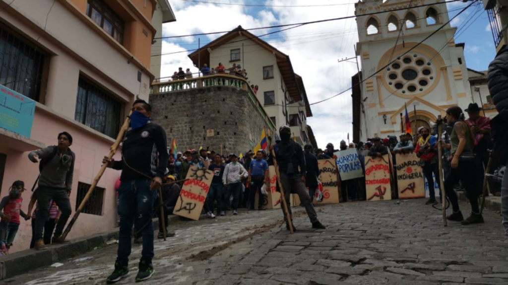 La marcha de los indígenas recorrió el centro, pero quedó lejos de Carondelet
