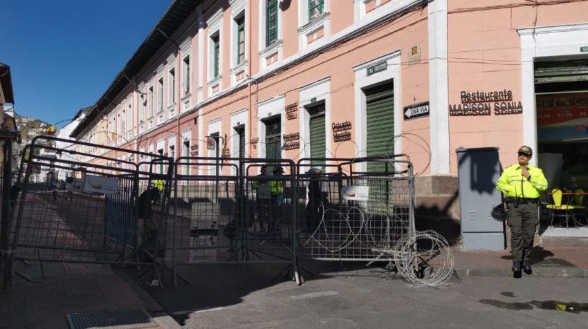 Varios locales del Centro Histórico perdieron sus ventas durante los día de protestas.