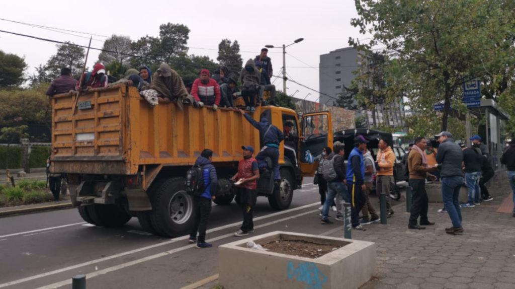 """Los indígenas se organizan para permanecer en Quito """"el tiempo que sea necesario"""""""