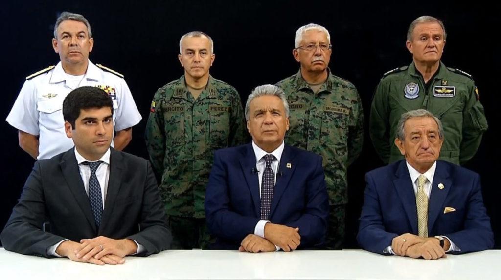 Moreno traslada la sede del gobierno a Guayaquil ante protestas