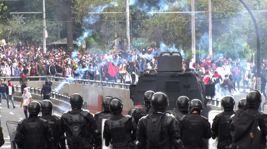 Las manifestaciones se extendieron durante todo el día en distintos sectores de Quito.