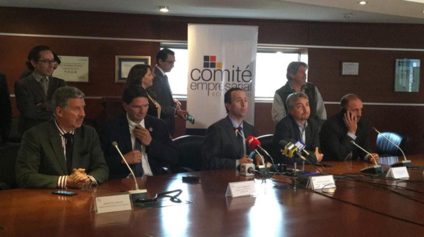 Roberto Aspiazu, Pablo Zambrano, Patricio Alarcón, Felipe Rivadeneira, Alejandro Martínez y Rodrigo Gómez de la Torre son integrantes del Comité Empresarial Ecuatoriano.