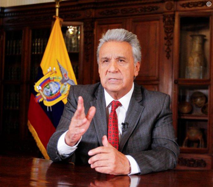 El 1 de octubre el presidente Moreno anunció las medidas económicas en cadena nacional.