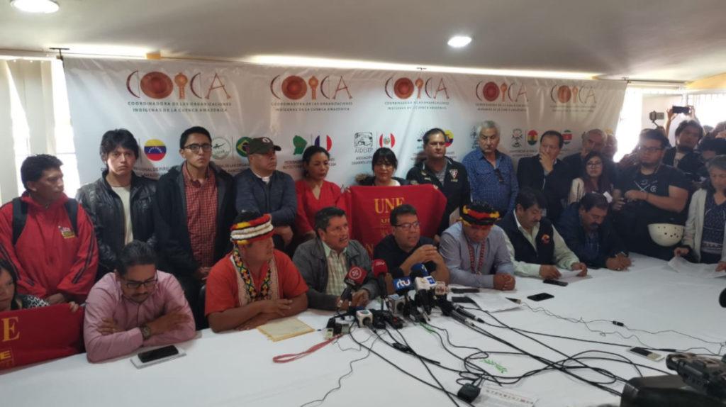 """Moreno """"tendrá que dejar la presidencia"""" si no deroga las medidas, advierten los indígenas"""
