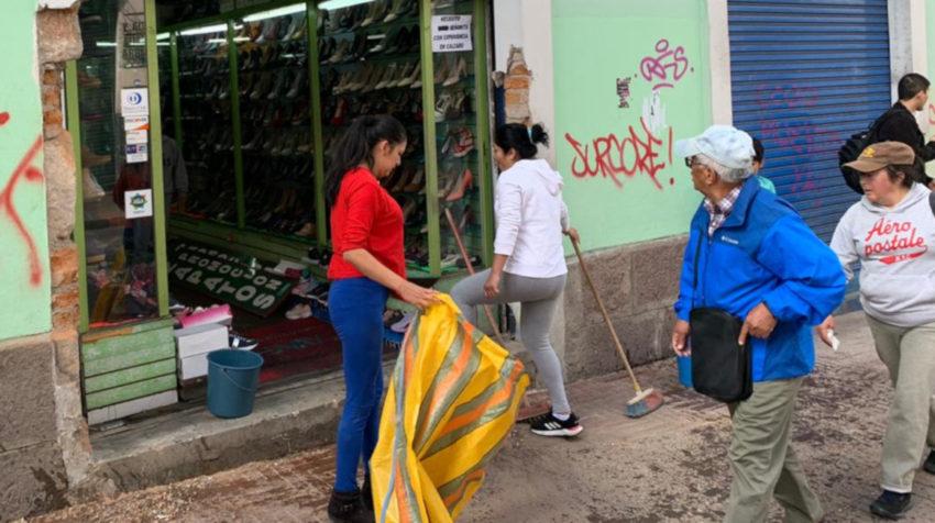 Durante los 11 días de paro en Ecuador, en octubre de 2019, varios locales del Centro Histórico de Quito fueron atacados.