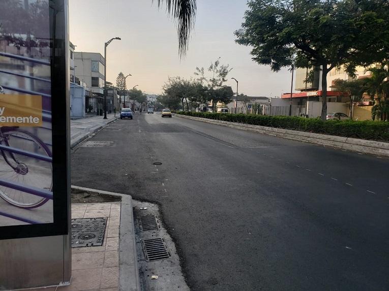 Así luce la avenida Víctor Emilio Estrada, al norte de Guayaquil.