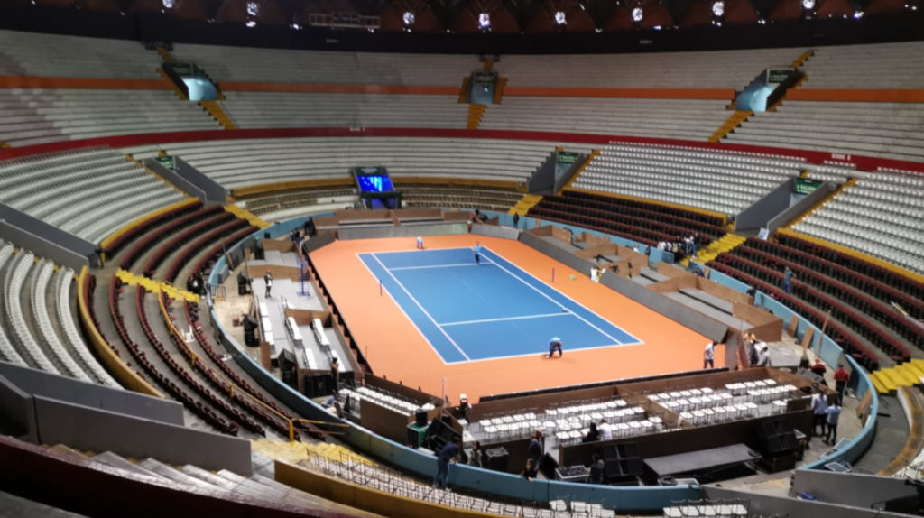 250 personas trabajan para adaptar el Coliseo Rumiñahui para Roger Federer