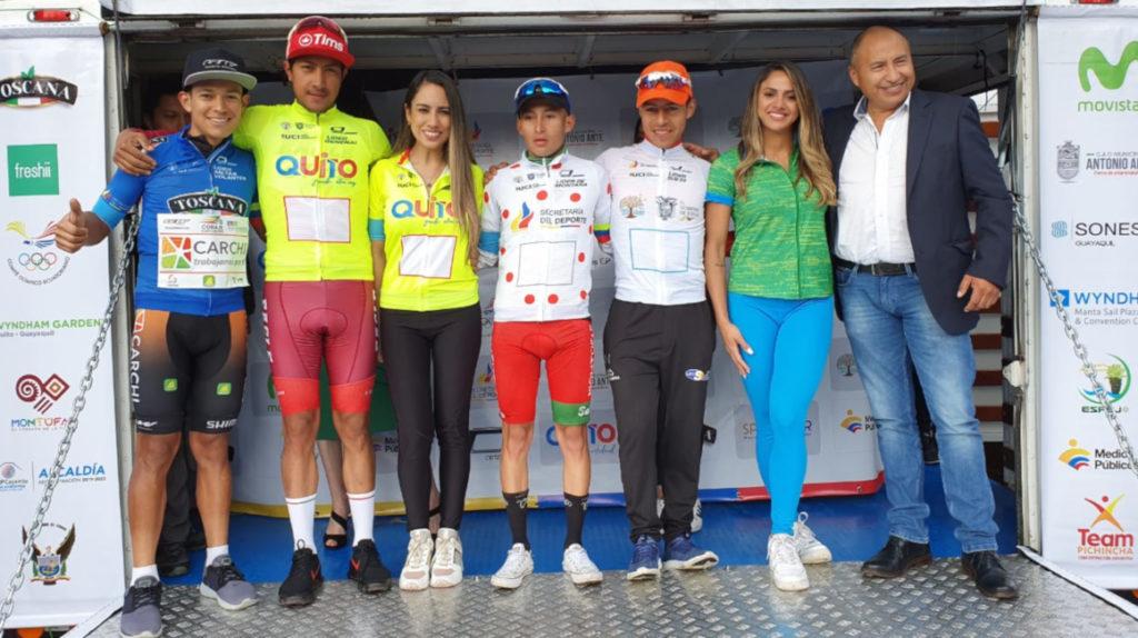 Rommel Caza gana la sexta etapa de la Vuelta al Ecuador y Montenegro es líder