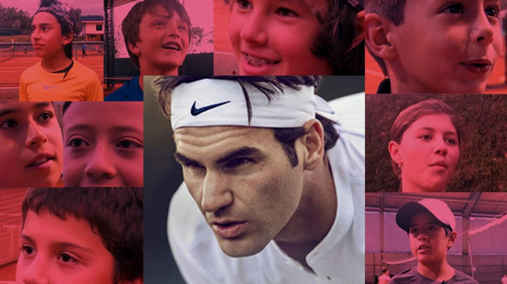La pasión que mueve Roger Federer en los niños de Quito