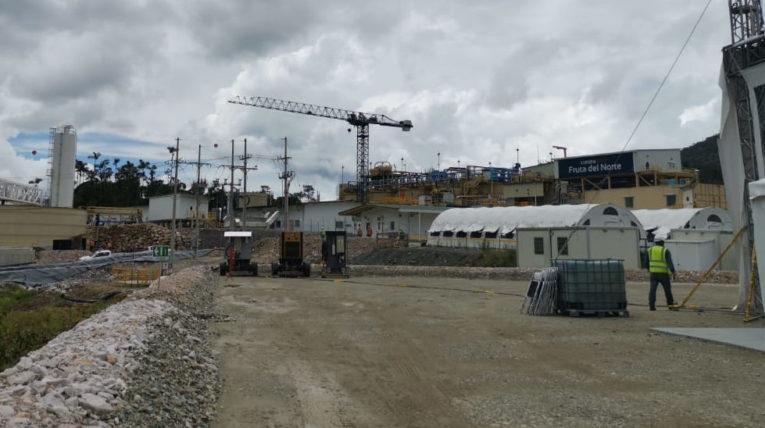 Vista general del proyecto minero Fruta del Norte, en la provincia de Zamora Chinchipe.