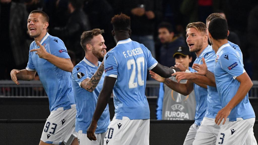 Lazio perdió con Felipe Caicedo en cancha