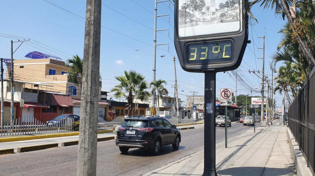 Reportan récord de temperatura máxima en Guayaquil