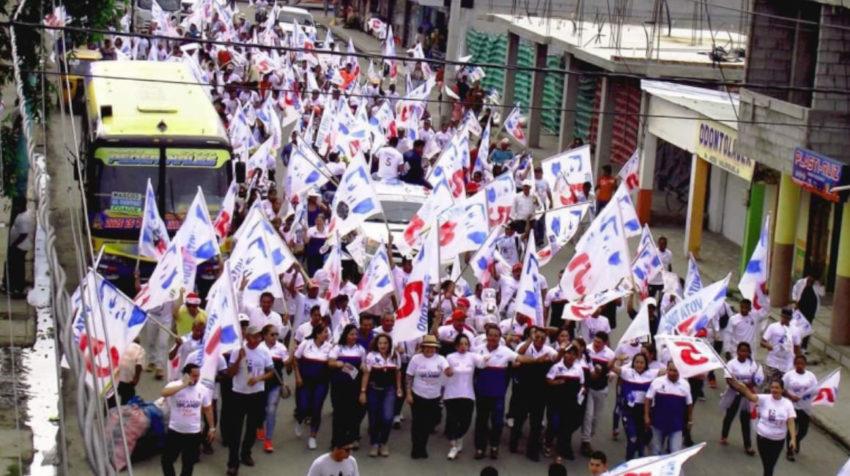 Fuerza Compromiso Social durante la campaña de 2017.
