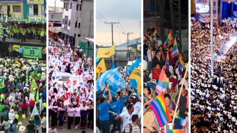 campaña partidos políticos collage