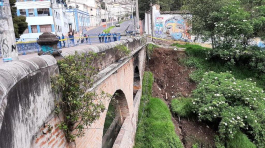 30 días permanecerá cerrado el puente sobre el río Machángara