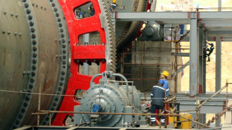 Trabajos en las facilidades de construcción de la mina del proyecto Mirador.