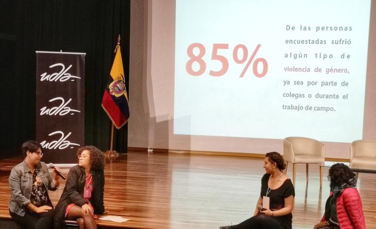Paz Olivares-Droguett comenta la cifra que presenta cuántas personas han sufrido violencia de género en el trabajo.