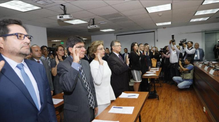 El lunes 2 de diciembre, los 26 conjueces temporales fueron posesionados por el Consejo de la Judicatura.