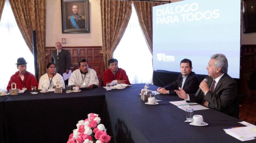 El 20 de noviembre de 2019, el presidente Lenín Moreno se reunió con los representantes de la Federación de Indígenas Evangélicos del Ecuador (Feine).