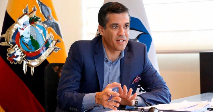 Pablo Flores, exgerente de Petroecuador, durante una entrevista en enero de 2020.