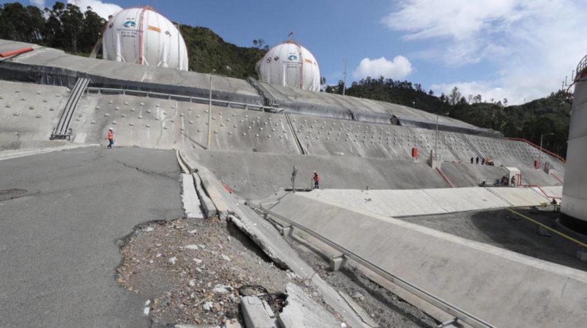 Imágenes del estado de la Terminal de Productos Limpios de Cuenca.