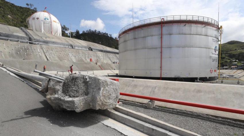 Imágenes de la plataforma de tanques de la Terminal de Productos Limpios de Cuenca.