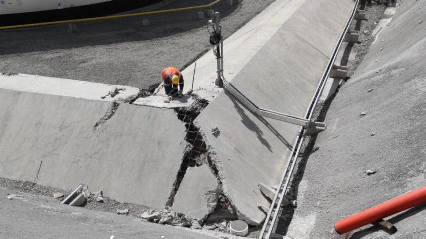 Imágenes del estado del poliducto Pascuales Cuenca, durante un recorrido realizado el jueves 30 de enero de 2020.