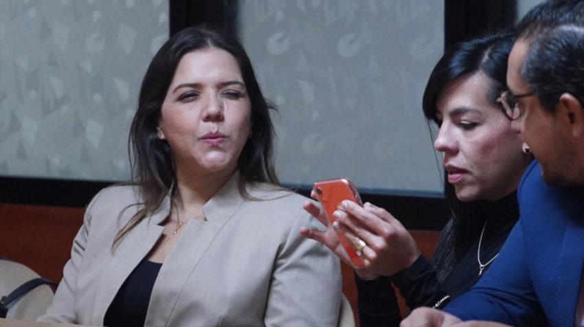 María Alejandra Vicuña durante la lectura de la sentencia en la Corte Nacional