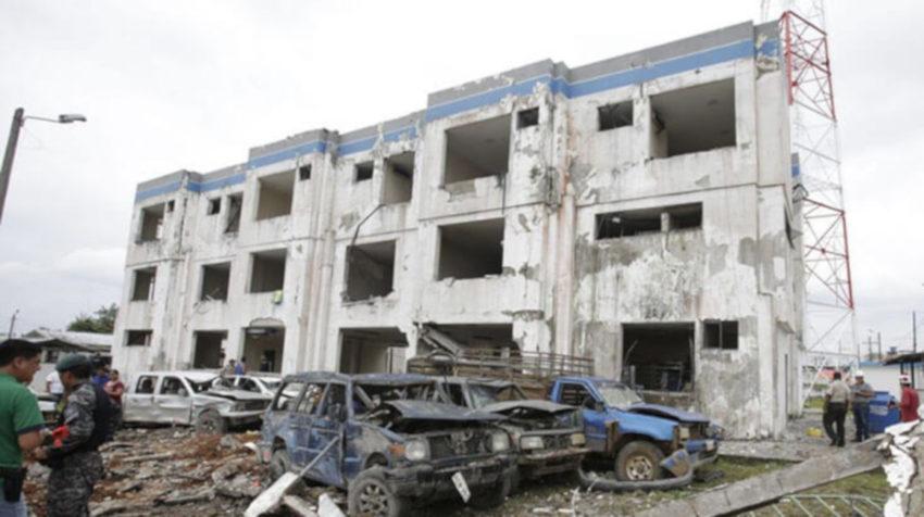 El 27 de enero de 2018, una detonación afectó la estructura del cuartel policial de San Lorenzo, en Esmeraldas.