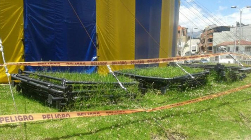 Circo Social de Cuenca, abandonado.  Noviembre de 2014.