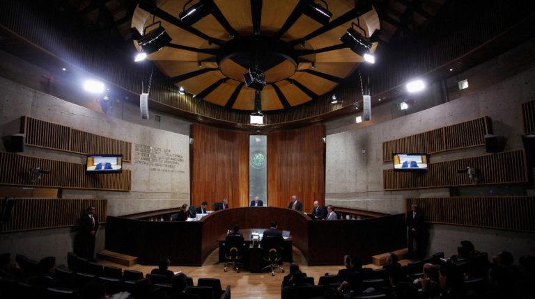 Sesión pública del Tribunal Electoral Federal de México, en agosto de 2012.