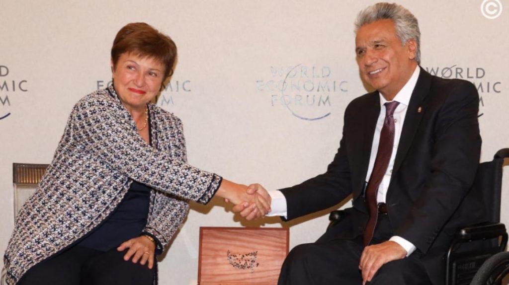 Lenín Moreno y la directora del FMI se reúnen en Davos