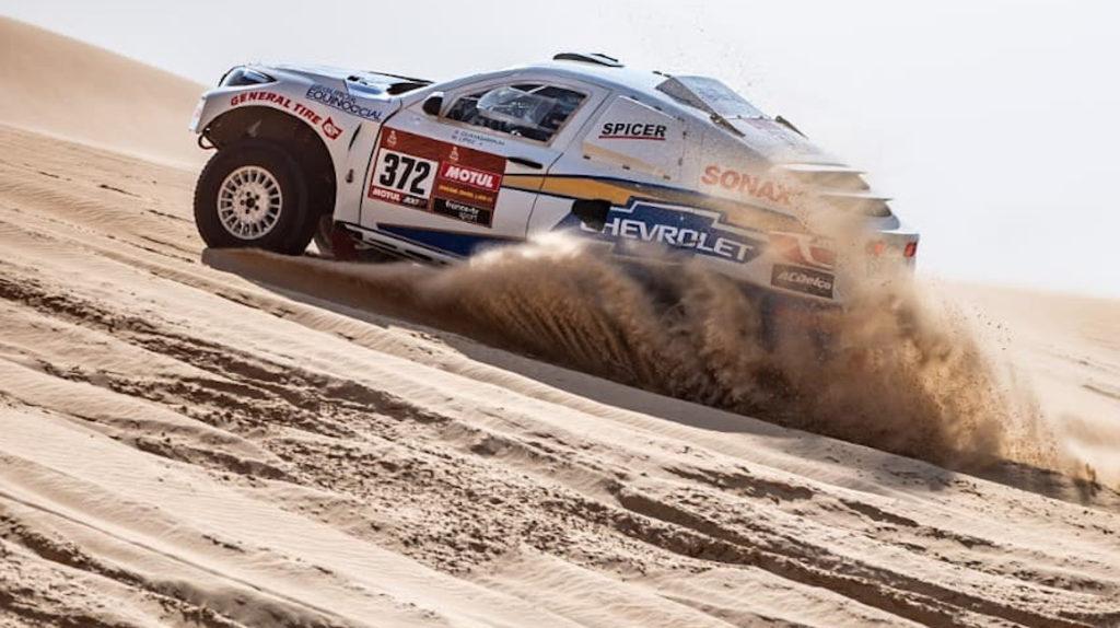 Sebastián Guayasamín cumplió su mejor etapa en el Dakar 2020