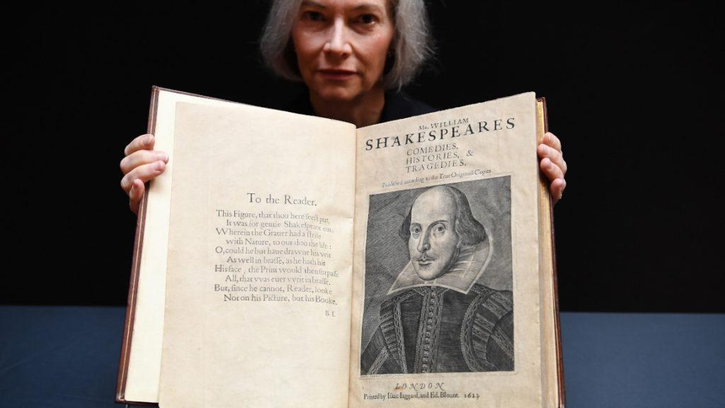 'Primer Folio' de Shakespeare aterriza en Londres