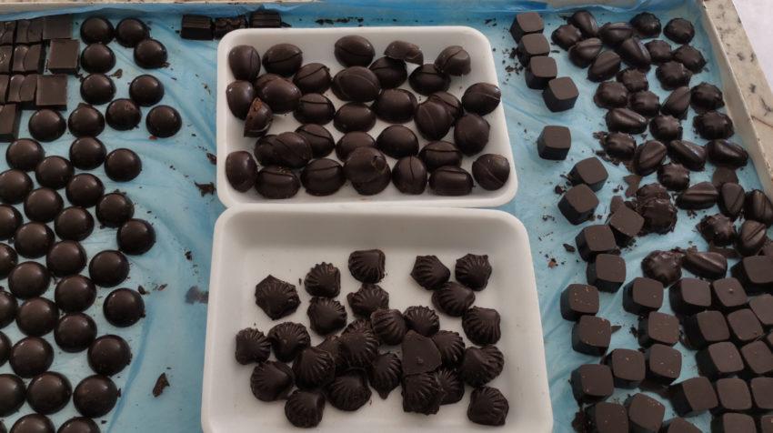 Chocolates de la empresa Choc Cumi