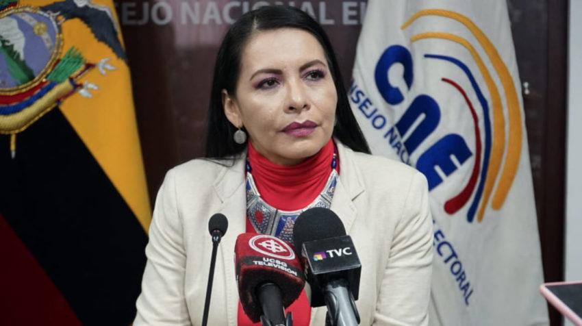 Diana Atamaint, presidenta del CNE: