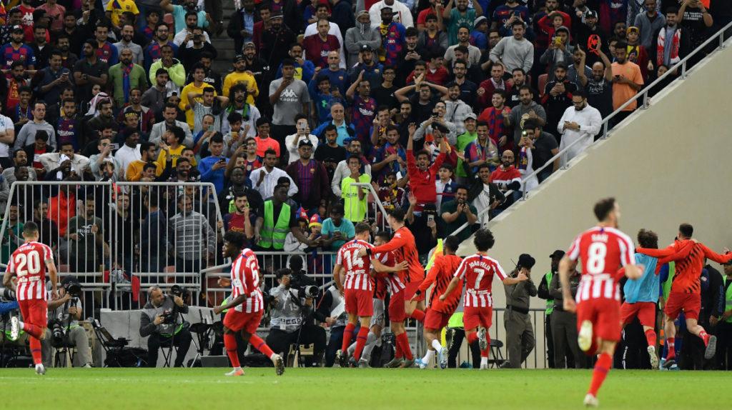 Atlético Madrid eliminó a FC Barcelona en un dramático partido