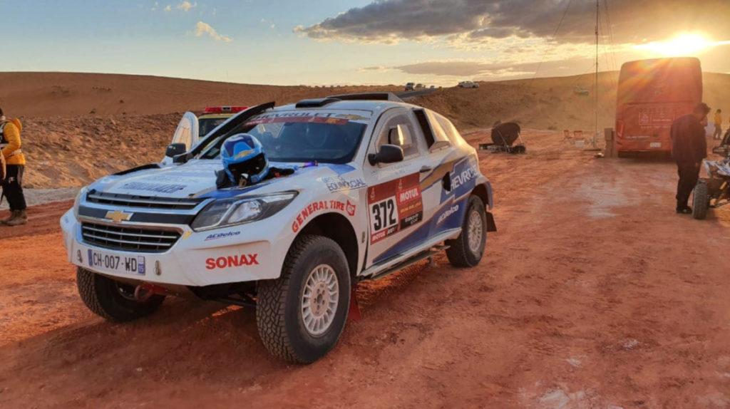 Sebastián Guayasamín busca estar entre los 30 mejores del Rally Dakar