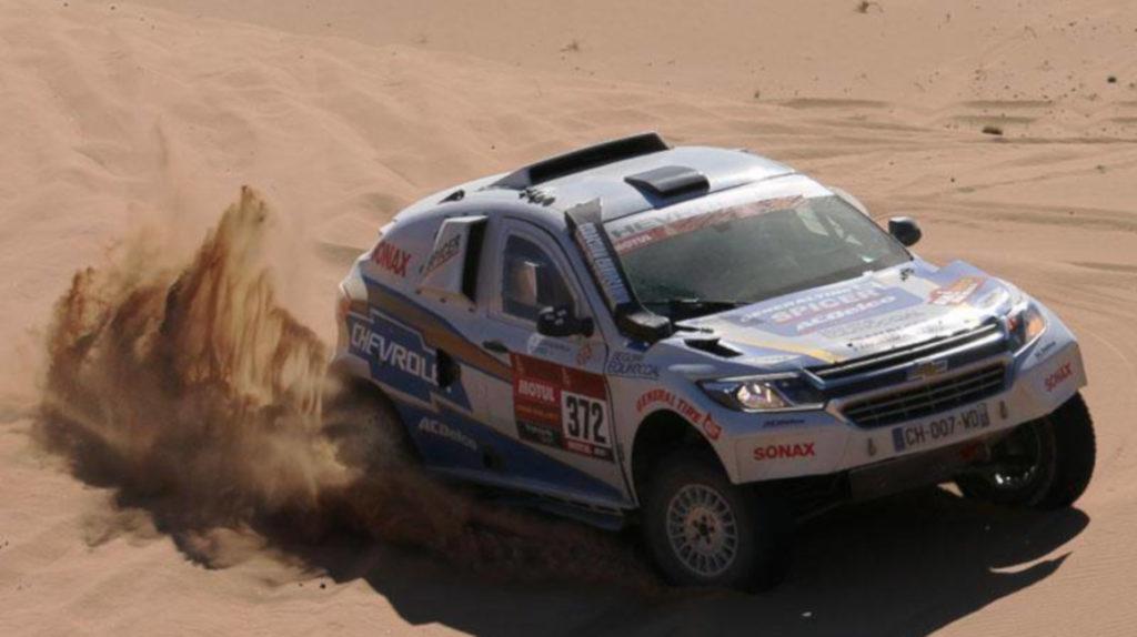 Sebastián Guayasamín cumplió la tercera etapa del Dakar sin daños mecánicos