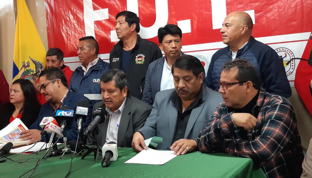 Frente Unitario de Trabajadores presentará demanda ante Fiscalía