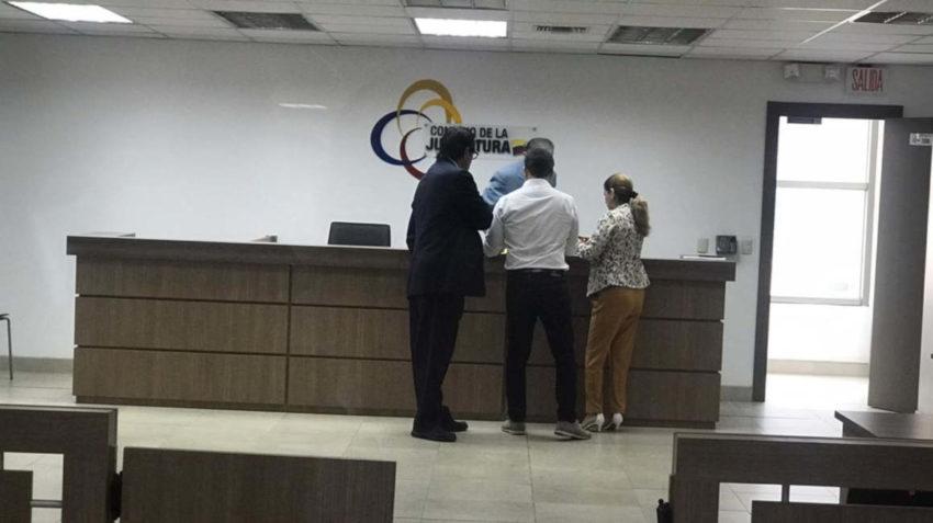 Yamil Massuh y su abogado.