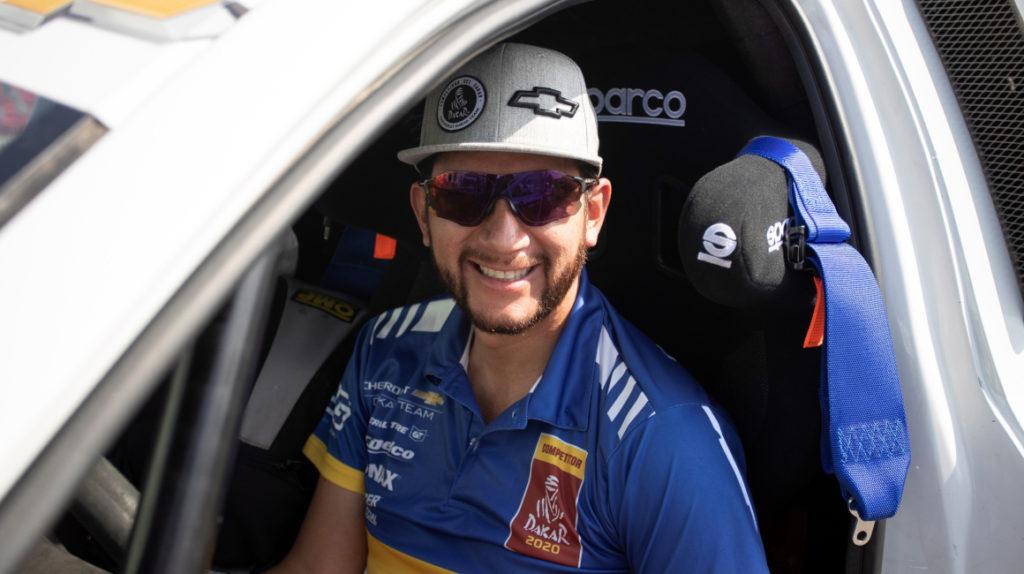 Sebastián Guayasamín terminó en el puesto 54 en la primera etapa del Dakar