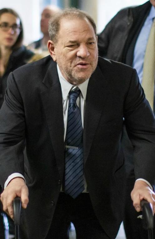 Harvey Weinstein mientras llegaba a su audiencia en Nueva York, el pasado 24 de febrero de 2020